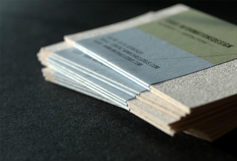 backside of business cards