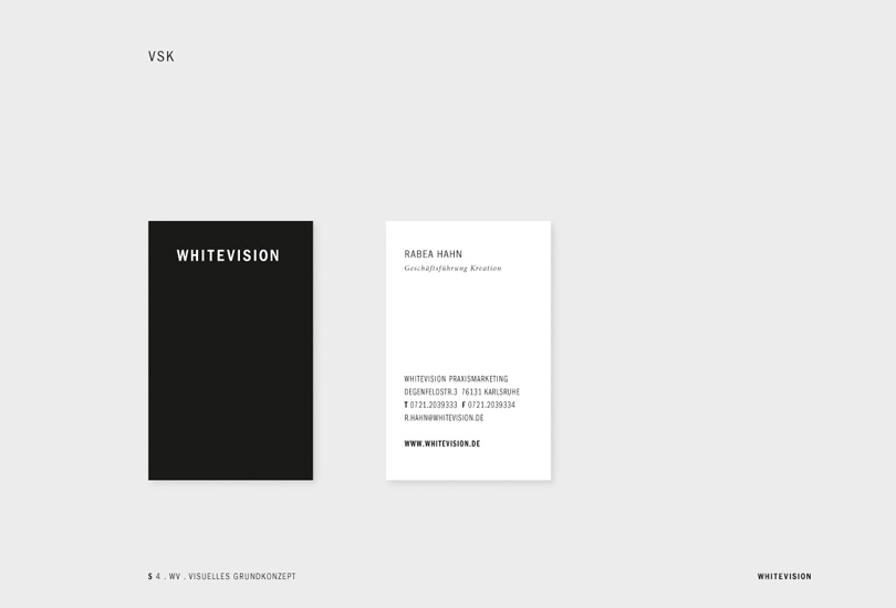 whitevision business cards