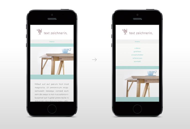 textzeichnerin mobile sreendesign
