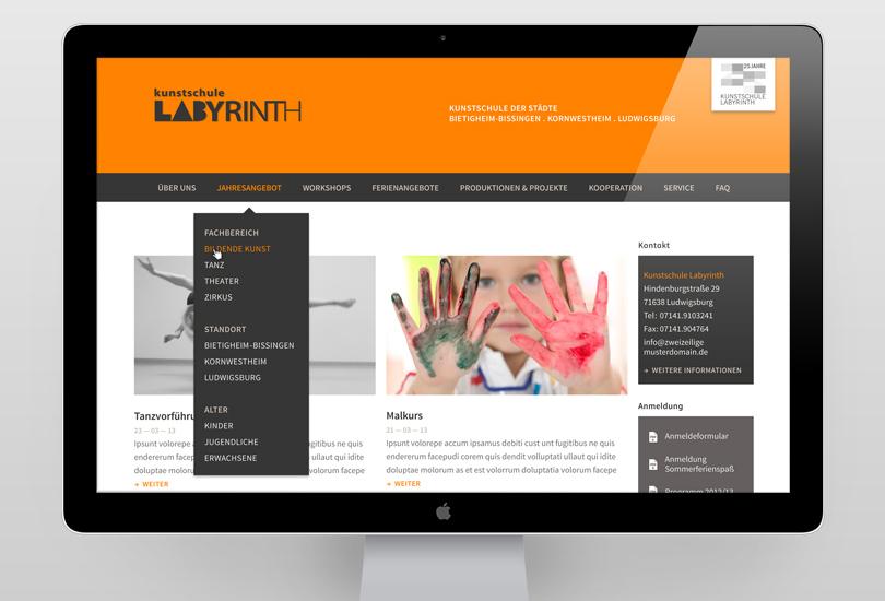 screendesign labyrinth